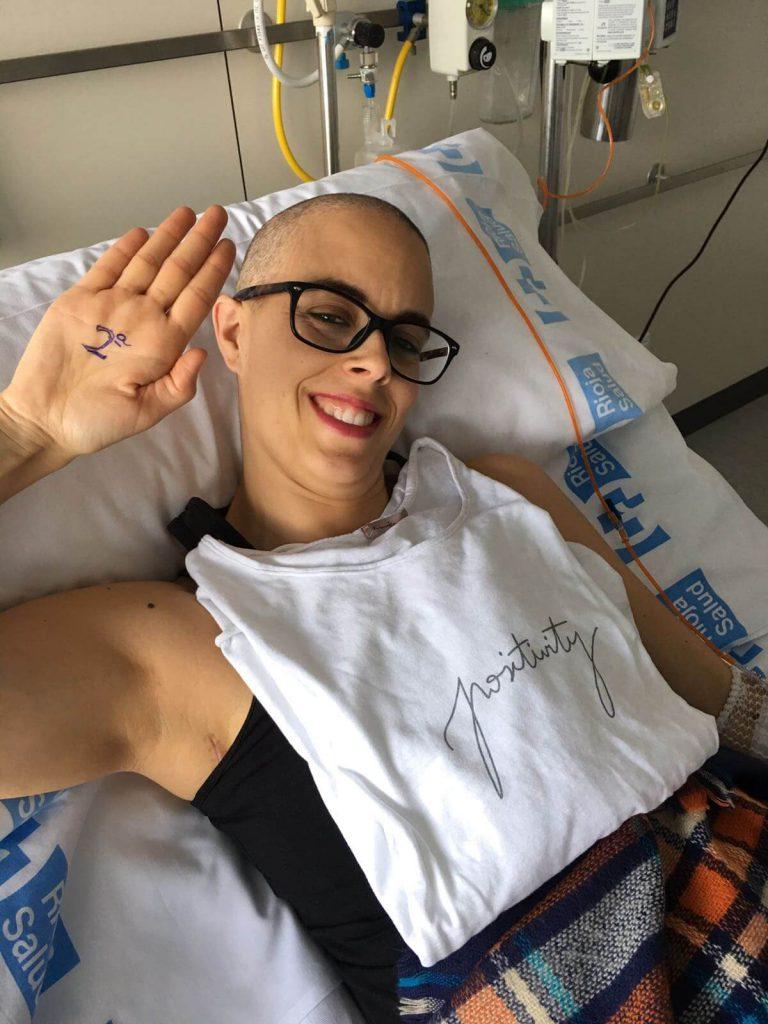 segunda sesión de quimioterapia