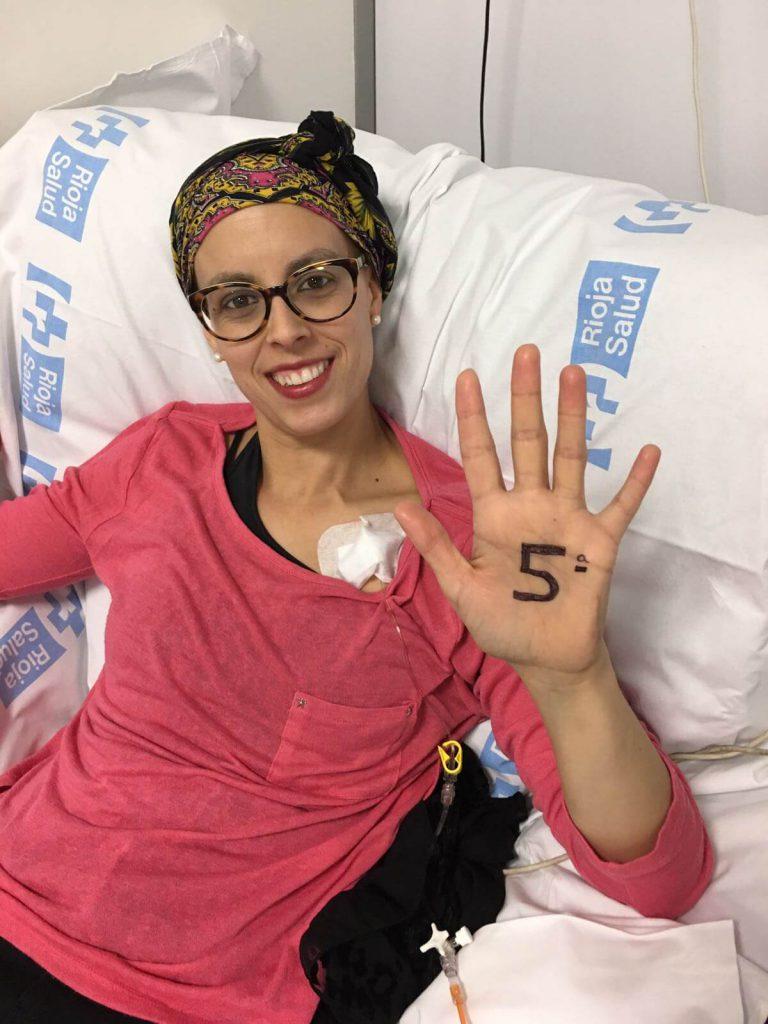 Quinta quimioterapia (primera de Taxol) (5/16)