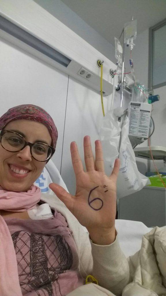 Sexta quimioterapia (segunda de taxol) (6/16)