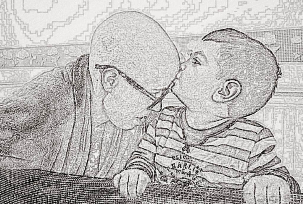 beso millan blanco y negro