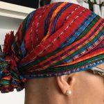 Pañuelo foulard con flor