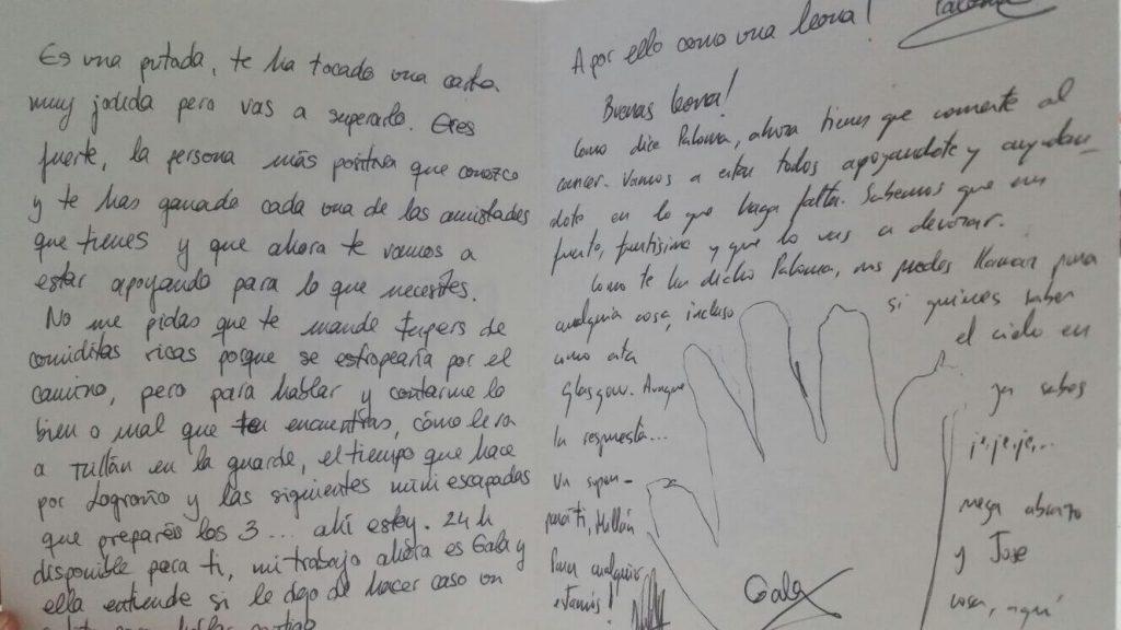 Postal de mi amiga Paloma #Fuckcancer