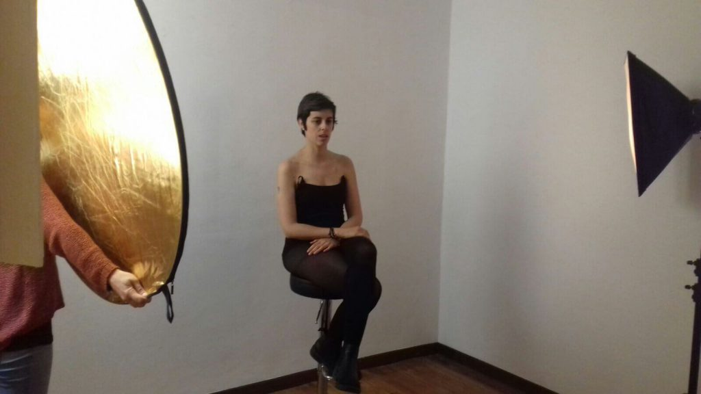 Myriam García posando para la foto
