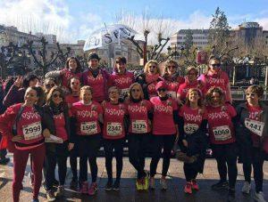 A las corredoras de la carrera de la mujer de Logroño