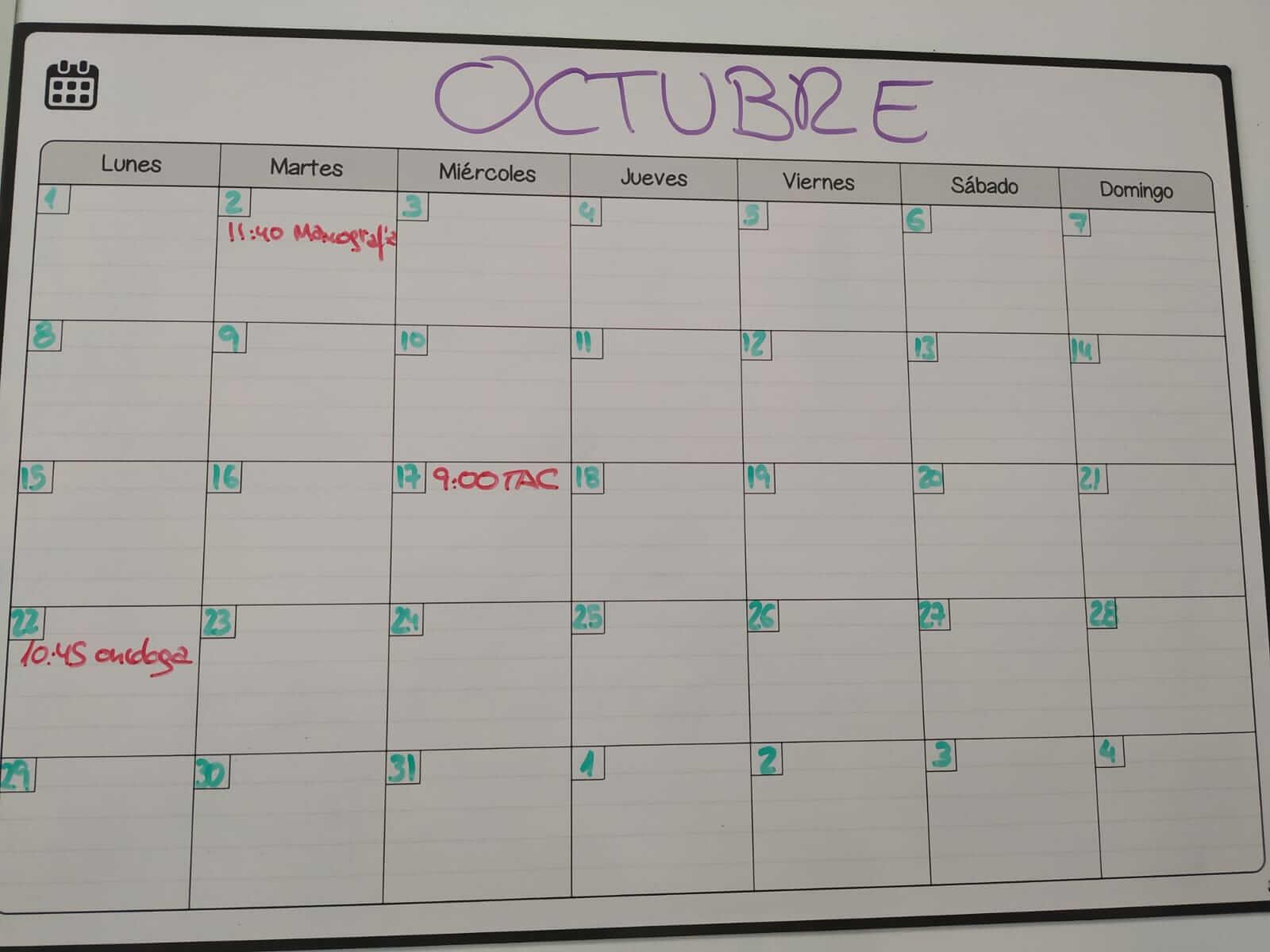 Mes de octubre completo. 3